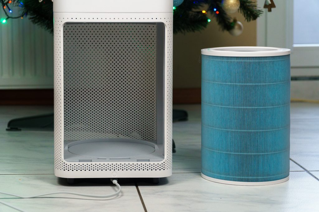 Xiaomi Mi Air Purifier Pro - The blue filter and the chamber intended for it